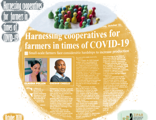 Harnessing Cooperatives for small-scale farmers in times of COVID-19